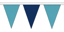SKY BLUE AND ROYAL BLUE TRIANGULAR BUNTING - 10m / 20m / 50m LENGTHS